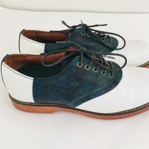 Polo Ralph Lauren Plaid Leather Golf Cleats